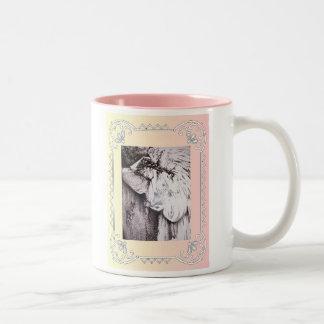 angel in repose Two-Tone coffee mug