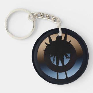 "Angel in Silhouette 'I am Here"" Acrylic Key Chain"