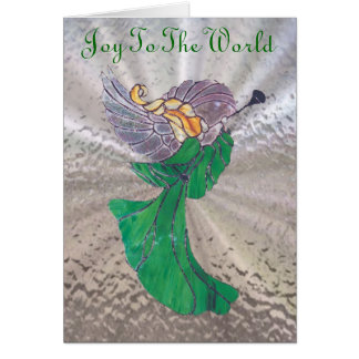 Angel in Stained Glass Card