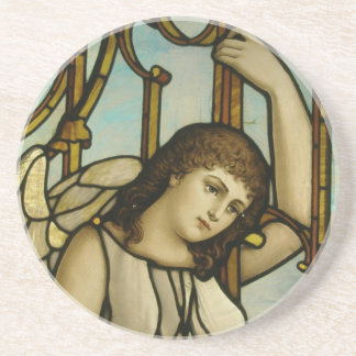 Angel In Stained Glass Coaster