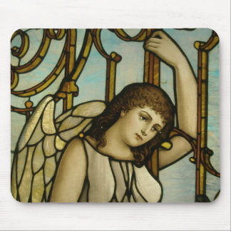 angel in stained glass mouse pad