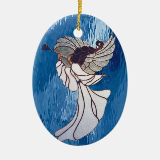 Angel in Stained Glass Ornament