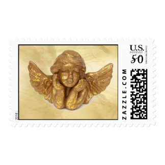 Angel in Stained Glass Postage