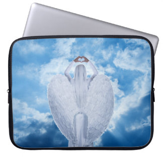Angel in the clouds computer sleeve