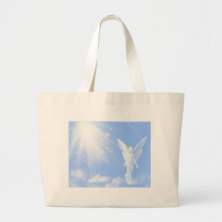 Angel In The Clouds Large Tote Bag