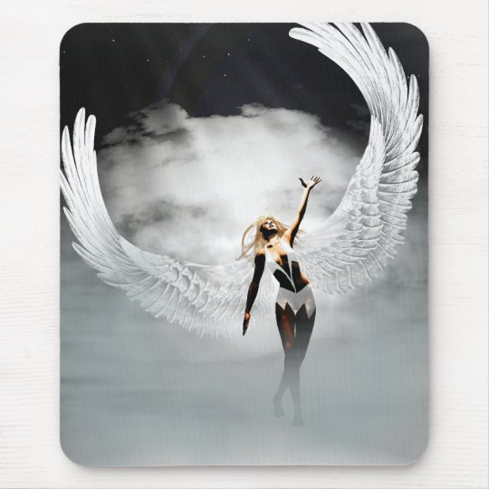 Angel in the clouds Mousepad