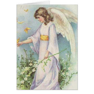 Angel in the Garden - Easter Card