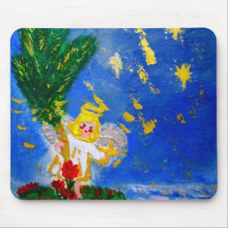 Angel in the Tropics Designer Art Mouse Pad