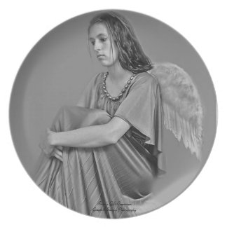 Angel In Thought Dinner Plates