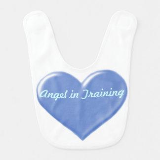 Angel in Training Baby Bib (Blue Heart)