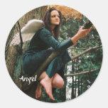 Angel In Tree Sticker