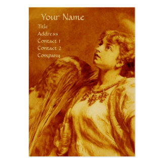 ANGEL IN YELLOW AND WHITE ,GOLD METALLIC PAPER LARGE BUSINESS CARDS (Pack OF 100)