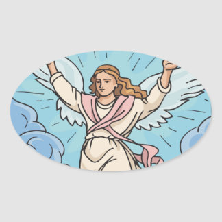 ANGEL IN YOUR HEART OVAL STICKER