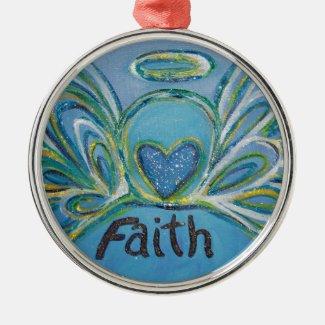 Angel Inspirational Word Faith Ornament