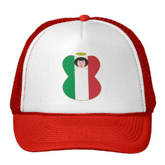 Ángel italiano de la bandera gorros bordados
