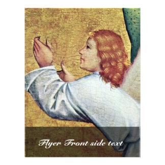 Ángel izquierdo del vuelo de la escena del fragmen tarjetas publicitarias