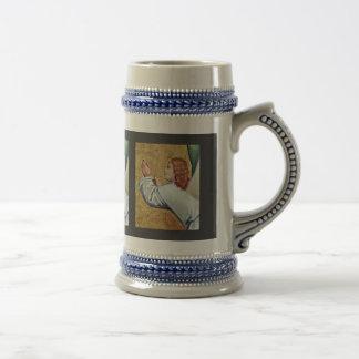 Ángel izquierdo del vuelo de la escena del fragmen tazas de café