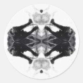 Angel Kaleidoscope 14 Round Sticker