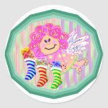 Angel Kid Asian Gifts Classic Round Sticker