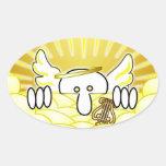 Angel Kilroy Oval Sticker