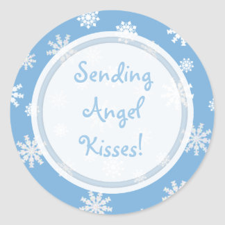 Angel Kisses Collection Round Stickers
