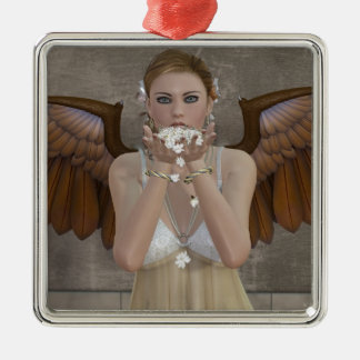 Angel Kisses coming your way Metal Ornament