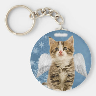 Angel Kitten Christmas Key Chain