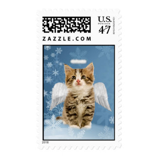 Angel Kitten Christmas Postage