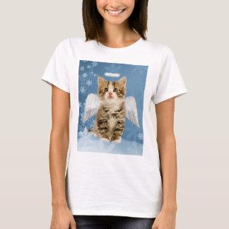 Angel Kitten Christmas T-Shirt