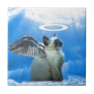 Angel Kitten Gifts Ceramic Tile