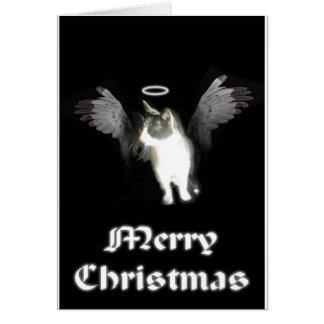 Angel Kitten Merry Christmas Greeting Card