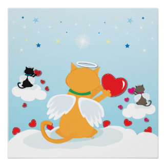 Angel Kitties Daylight- With Love from Heaven Poster