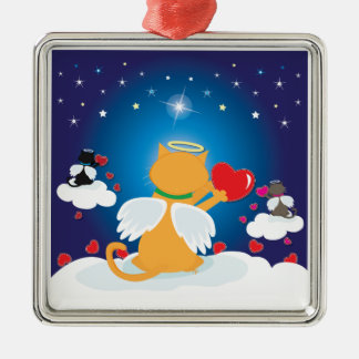 Angel Kitties - With Love from Heaven Metal Ornament