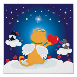 Angel Kitties With Love from Heaven Poster