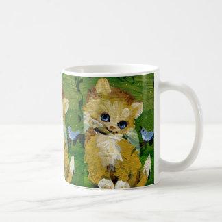 Angel Kitty and Bluebird Classic White Coffee Mug