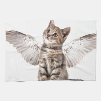 angel kitty kitchen towels