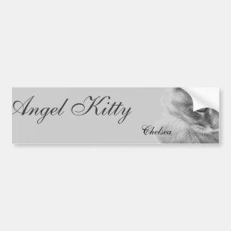 """""""Angel Kitty"""" Portrait Bumper Sticker"""