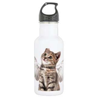 angel kitty stainless steel water bottle