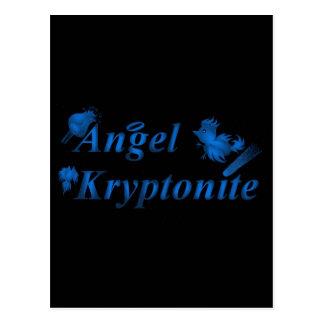 Angel kryptonite logo postcard