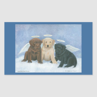 Angel Labbies Christmas Sticker