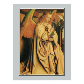 Angel, Lam Gods (Ghent Altarpiece) Jan Van Eyck Postcard