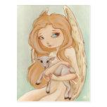 Angel lamb post card