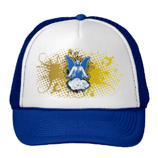 Angel landing solid, blue by christianstores. trucker hat