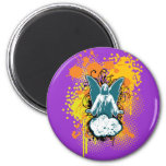 Angel landing solid, turqouise by christianstores. refrigerator magnets