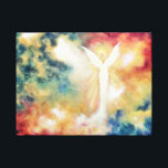 """Angel Light Angel Art Print on Canvas<br><div class=""""desc"""">A beautiful guardian angel from the original oil painting by Marina Petro.</div>"""