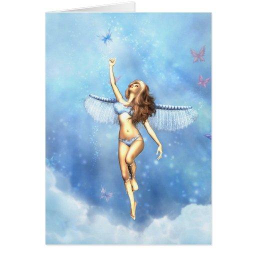 Ángel llovido del cielo tarjeta de felicitación