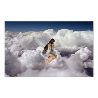 Angel looking down to Earth Poster