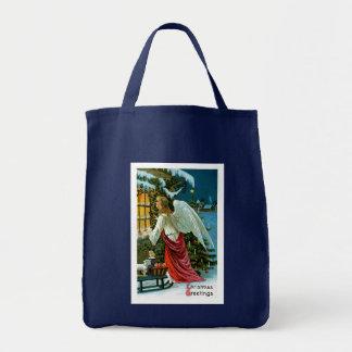 Angel Looking in the Window Tote Bag