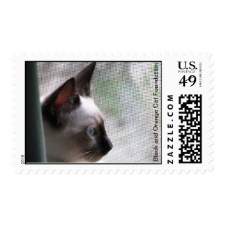 Angel looking out. postage stamps