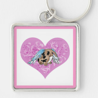 Angel Lop Bunny In Heart Keychain